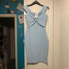 Quiz Clothing pale blue Bardot Summer Party dress Size 8