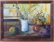 Listed Artist MODERN Oil Painting Framed art Original Signed canvas vintage pop