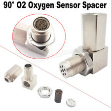 90°O2 Oxygen Sensor Catalytic Converter CEL Check Bung Spacer Engine Light