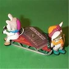 HERSHEY'S TIME FOR A TREAT Hallmark 1996 Ornament MICE with CANDY BAR SLED ~ NEW