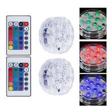 2pcs LED Licht Unterwasserlicht RGB mit Fernbedienung Aquarium Beleuchtung