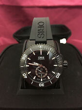 Oris Aquis Titan Small Titanium/Black Plated Chronograph Divers Watch NIB