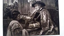 Rembrandt Heliogravure  France 1800,s 9x12  King washing hands