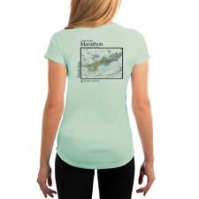 63f66253 Marathon Nautical Chart Women's UPF 50+ UV/Sun Protection Short Sleeve T- Shirt