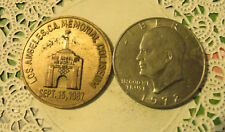 Commerative large/dollar size /heavy medal/Token /Pope Las Angeles 1987 #84