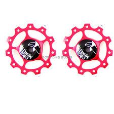2PC Wheel for Rear Derailleur 11T RED BIKE ROAD MTB - CIRCUS MONKEY