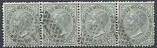 1863-65 REGNO USATO EFFIGIE 5 CENT BLOCCO DI 4 VALORI - RR12088