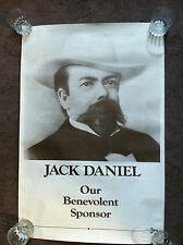Vintage JACK DANIELS Our Benevolent Sponsor Collectible Advertising Poster 24x36