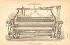 1874 Stampa ~ Tessitura ~ FUSTIAN GUAINA Smith & FRATELLI POWER Guaina lato della quota altimetrica