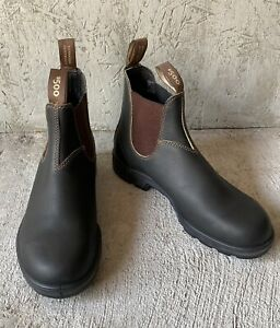 New Blundstone Stout 500 Black Leather Water Resistant Chelsea Boots AU 9B US 10
