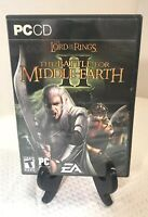 Lord of the Rings Battle for Middle Earth II for PC w/ CD key (MISSING DISC 1)