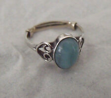 HANDCRAFTED STERLING SILVER 925 TURQUOISE RING SIZE 7.5