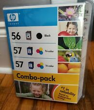 HP Invent 56 Black 57 Tri Color (3) Ink Cartridge Combo Pack Fast Free Ship