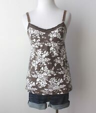 Abercrombie & Fitch Babydoll Back Top Tie Shirt Lace Hollister Blouse Floral XS