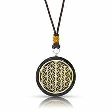 Black Tourmaline Orgone Pendant Necklace Flower of Life Orgone Energy Generato