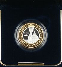 2000 Library of Congress Commem Proof $10 Gold & Platinum Bimetallic Coin in OGP