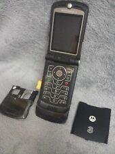 Motorola RAZR V3XX Handy Gehäuse schwarz #8 BC mobile phone case housing black