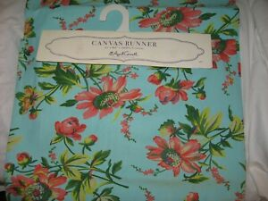 April Cornell Canvas 100% Cotton 17 X 90 Vibrant Floral Table Runner NEW