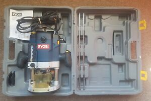 Ryobi ERT - 2100V  2100W 240V Plunge Router with Case Fully Working Order