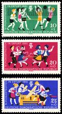 EBS East Germany DDR 1961 Young Pioneers Pioniertreffen Michel 827-829 MNH**