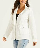Suzanne Betro Weekend Women's Collared Utility Jacket (White, M)