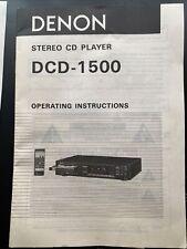 Denon Dcd1500
