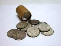 Circulated Roll Of 20 Assorted 1964 Kennedy Half Dollars - 90% Silver