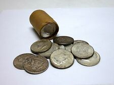 Roll Of 20 Circulated, Assorted 1964 Kennedy Half Dollars - 90% Silver