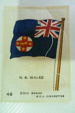 B.D.V. Cigarettes Silk FLAG- N.S. WALES FLAG 20th Series (apx. 7x5 cm)