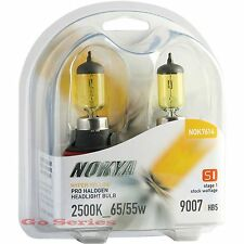 Nokya 9007 Hyper Yellow Headlight Fog Light Halogen Bulb 2500K S1