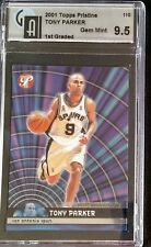 Tony Parker 2001 TOPPS PRISTINE ROOKIE CARD#110  GAI GEM MINT 9 5 First Graded