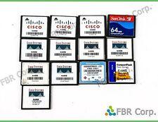 Cisco Lot 13 CF 64mb CompactFlash Memory Card Compact Flash For Digital Camera