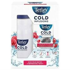 Tetley Cold Infusions Water Bottle with Raspberry and Cranberry 12 Bags