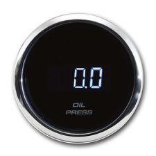 52 mm Auto Oil Pressure Gauge Digital Black Face Chrome Rim PSI 12 / 24 V