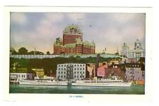 Quebec City, Quebec, Canada view from water used postcard c 1955