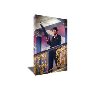 Al Pacino SCARFACE You F-ing with the BEST Poster Photo Painting CANVAS Wall Art