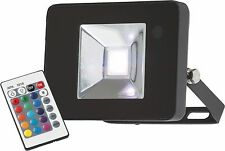 Knightsbridge IP65 10W RGB LED Die-Cast Aluminium Floodlight with Remote Control