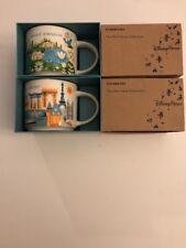 LOT OF 2: Disney Magic Kingdom+ EPCOT, Version 3 2017 YAH Starbucks Mugs