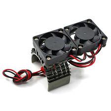 RC EP Electric 1/10 Car 540 Motor Upgrade Alloy Heat Sink DOUBLE FAN heatsink GM