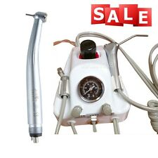Portable Dental Lab Turbine Unit Work With Compressor + High Speed Handpiece