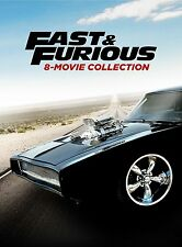 Fast and Furious: Complete Paul Walker Movies 1 2 3 4 5 6 7 & 8 Boxed DVD Set