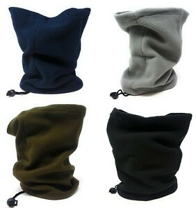 Neck Warmer Fleece Black Cycling Winter Adults Snood Mask Scarf Tube Face Unisex