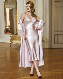 Women Top Quality Satin and Lace Nightdress and gown Set       European Products