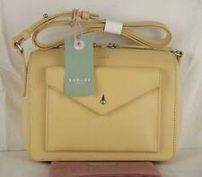 "Radley ""Keats Grove"" Across Cross Body Bag Firm Yellow Leather Small New"
