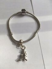 Window Cleaner TG320A on a silver Rhodium Plated Snake Bracelet