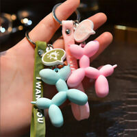 Colorful Balloon Dog Keychain Car Key Ring Bag Pendant Jewelry Gift  Accessory