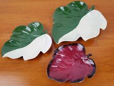 More details for vintage carlton ware bon bon dishes x 3 rouge royale leaf pattern
