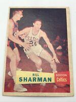 1957 Topps Bill Sharman #5 Boston Celtics Basketball Card Rookie RC