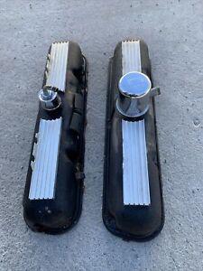 1964-67 Mopar 273 Hipo Commando Valve Covers Barracuda Dart Small Block Finned