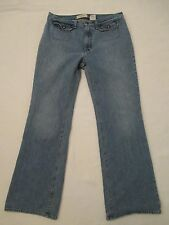Womens Size 12 Regular Gap Flare Leg Cleo Blue Jeans Snap Pockets Measure 31x31